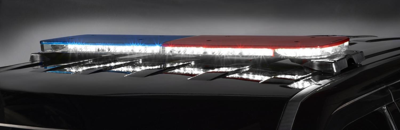 Police allegiant light bar federal signal allegiant light is shown with full flood option aloadofball Choice Image