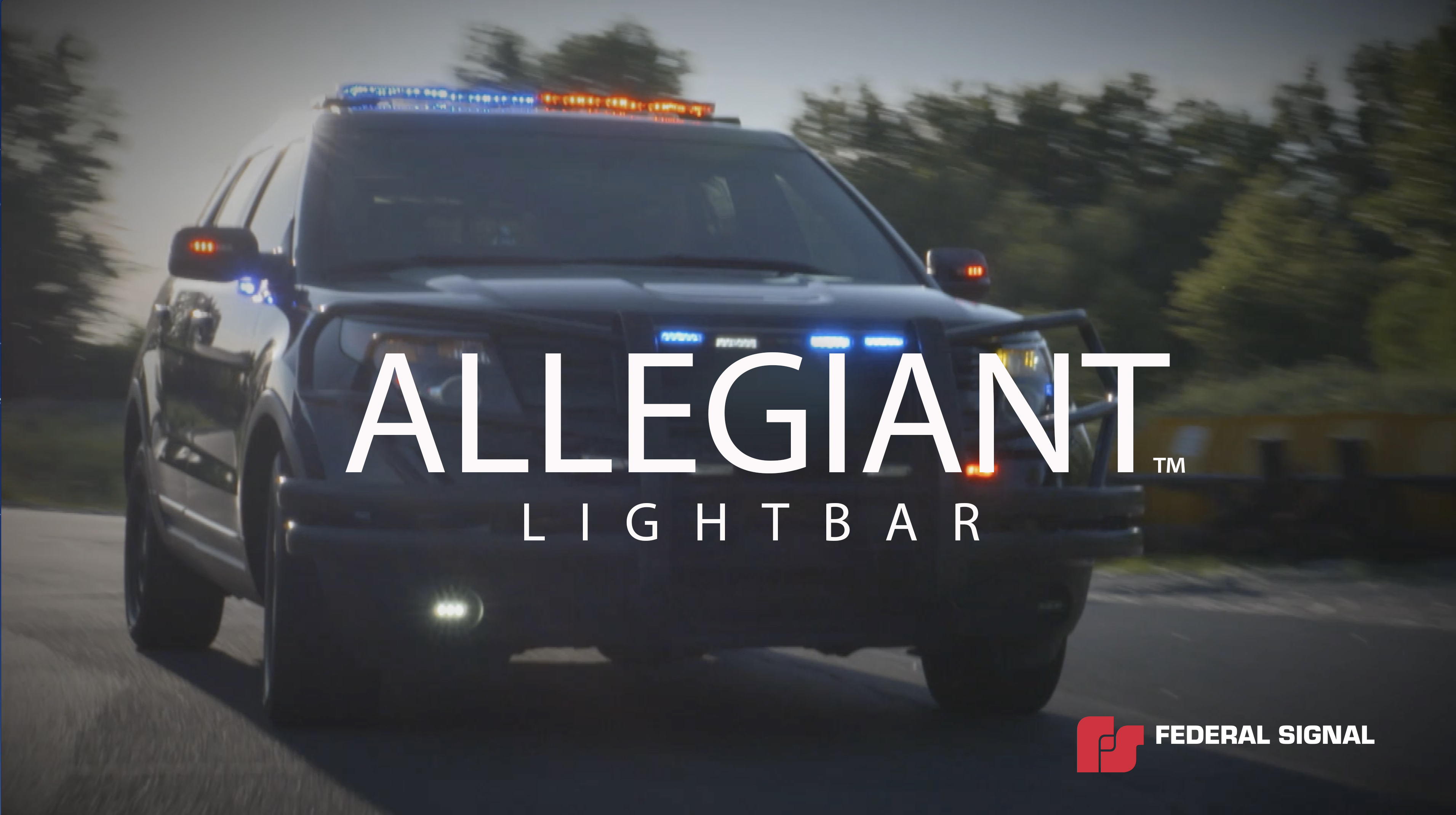 Allegiant police lightbar (Spanish) | Federal Signal