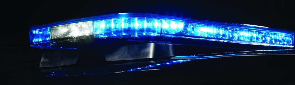 Police Allegiant Light bar all Blue