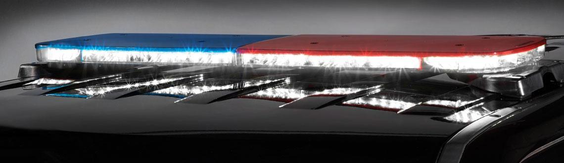 Police Allegiant Light bar Full flood mode